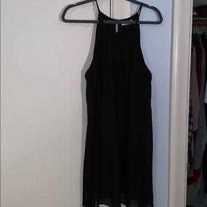 High neck shift dress
